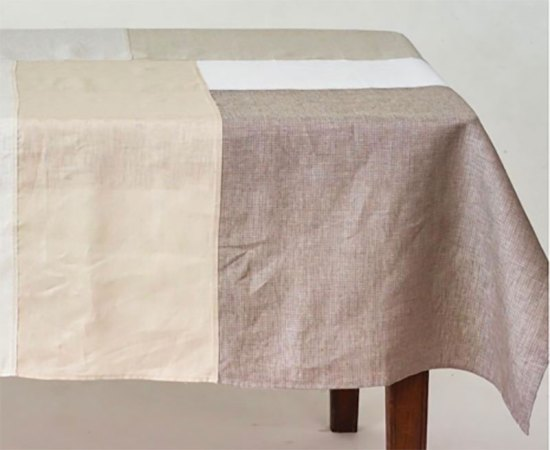 Shop Fog color block lined tablecloth