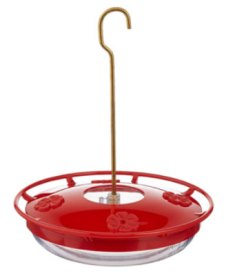 red saucer hummingbird feeders