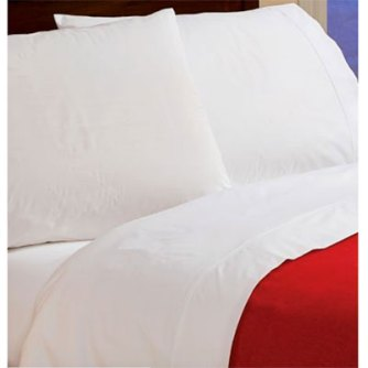 Vermont Country Store Crisp Cotton White Sheets