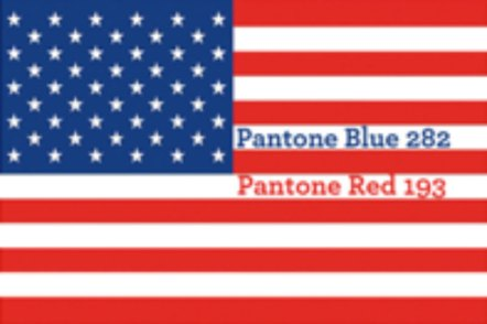 Pantone colors of the American flag