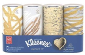4 Kleenex cylinder package