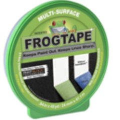 Frog tape paint tape for removable labels