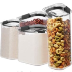 Rubbermaid vertical food storage containers