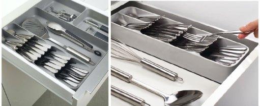 kitchen cutlery drawer organizer
