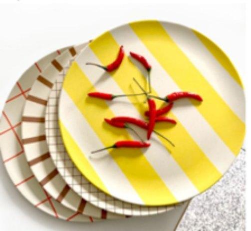 bamboo salad plates