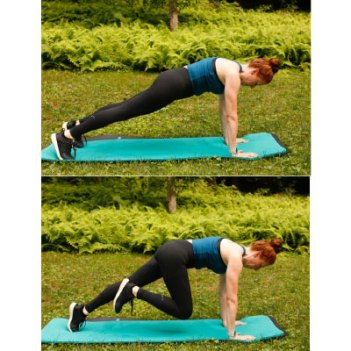 10 minute workout mountain climbers