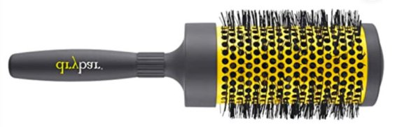 Round hairbrush for waves