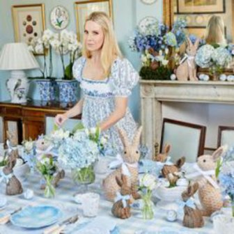 tablescapes Mrs. Alice's Easter bunnies