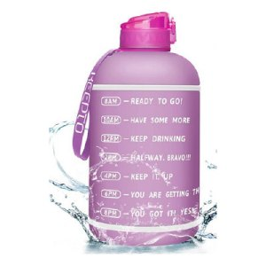128 oz motivational water bottle with straw