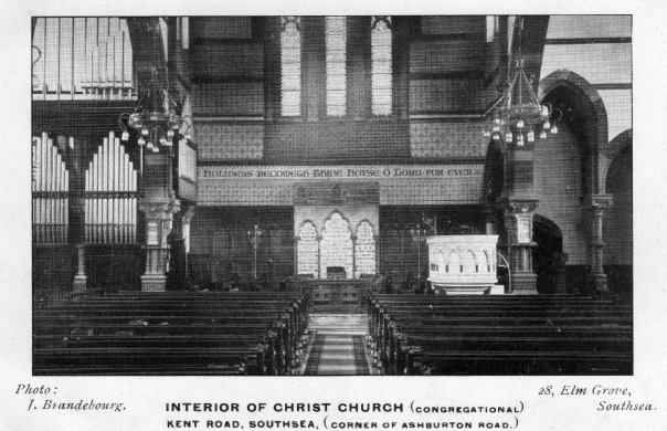 INTERIOR OF CHRIST CHURCH, Kent road, Southsea