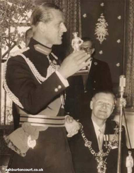 Sir Alfred Blake with Prince Philip