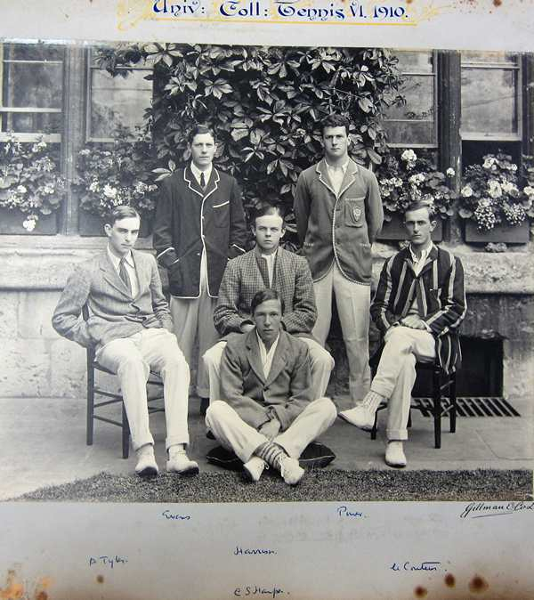 Alfred Tylor University College, Oxford, Tennis, Photo 1910