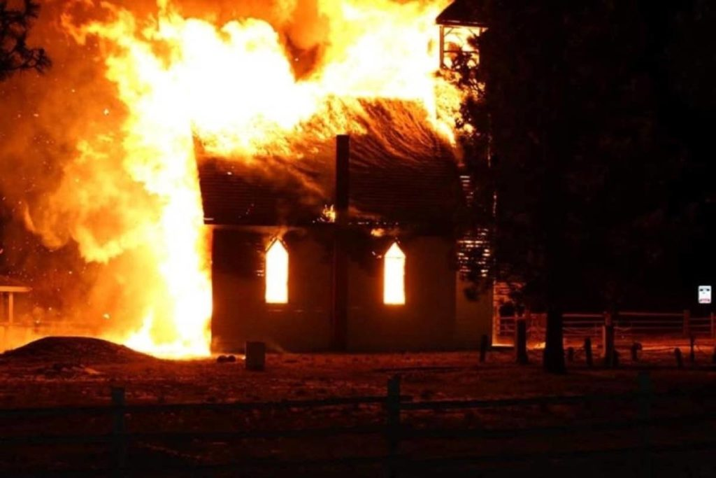 Historic Nicola Valley church destroyed by fire  Ashcroft