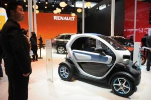 La nouvelle voiture électrique de Renault présentée à Shanghai en avril dernier. (Peter PARKS/AFP)