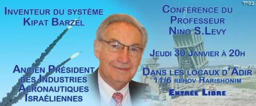 conference de Nino Levy inventeur de Kipat Barzel