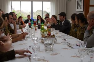 dejeuner jeunes millitaires franco israeliens