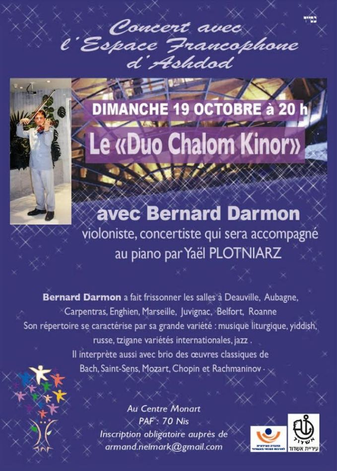 concert bernard darmon violon