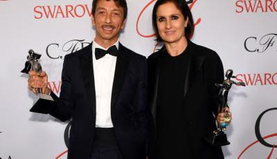 Maria Grazia Chiuri et Pierpaolo Piccioli lors du Fashion awards gala.  www.meltyfashion.fr