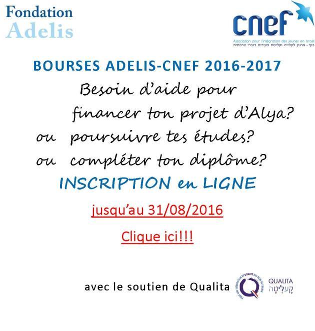 bourses adelis.cnef 2016