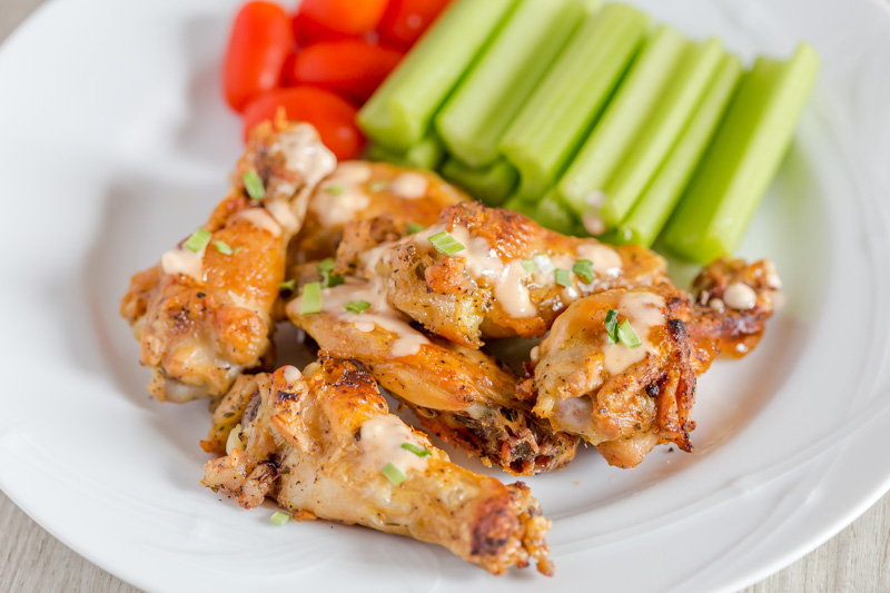 Baked Chicken Wings with Maple Mustard sauce -A guest post by victoria