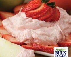 natural strawberry dip