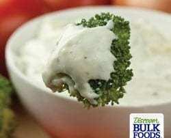 natrual garlic herb dip