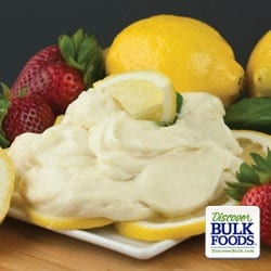 natural lemon cheesecake dip
