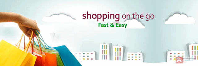 shopping on the go banner