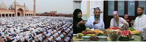 Muslims mark the end of Ramadan