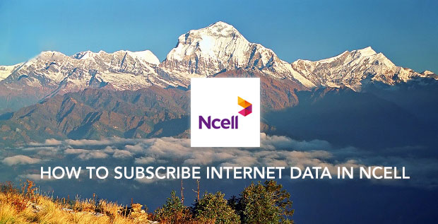 Subscribe internet data in ncell