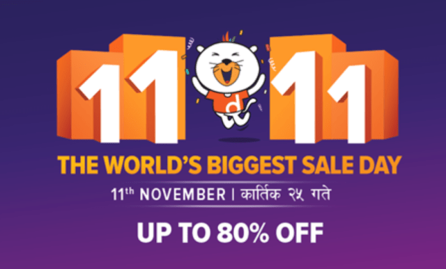 Daraz Nepal 11 11 Biggest sale day