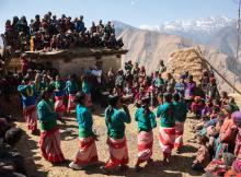 Dauda dance at Gaura festival