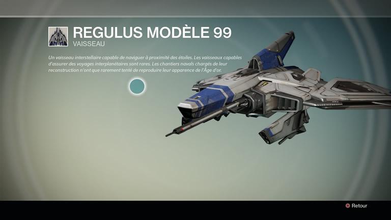 Vaisseau Regulus Modèle 99