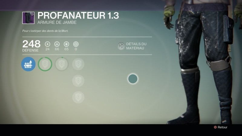 Jambières : Profanateur 1.3