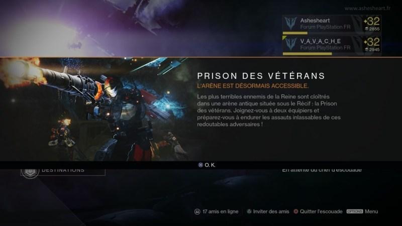 La Prison des Vétérans est disponible !