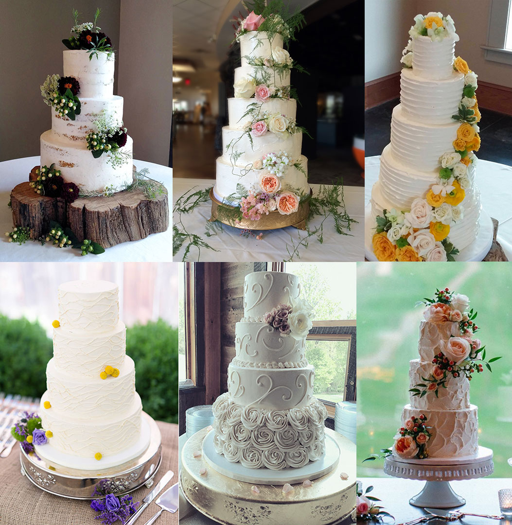 A Snapshot Of Buttercream Wedding Cakes.