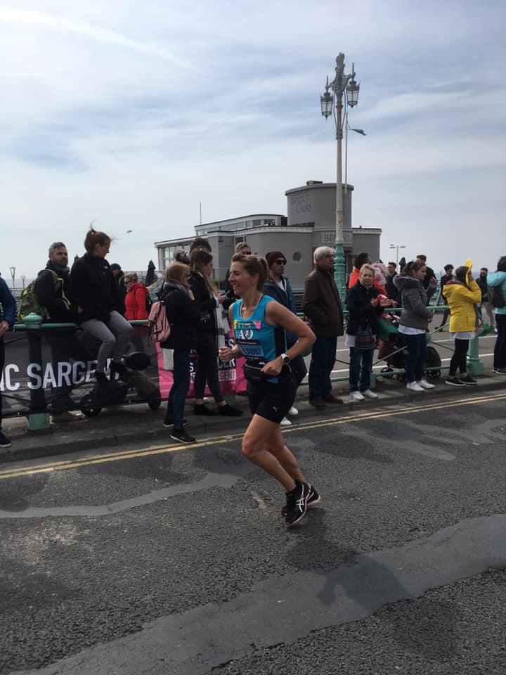 Brighton Marathon Sandi Mortimer