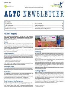 Ashford Tennis Club Newsletter Spring 2019
