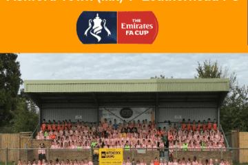 FA Cup programme v Leatherhead, 30/09/17