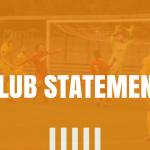 Club Statement 6th April 2020