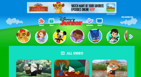 disney cartoon watch online