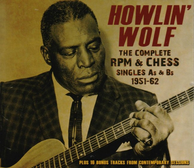 CD cover, Howlin' Wolf - The Complete RPM & Chess Singles 1951-1962, Acrobat Records