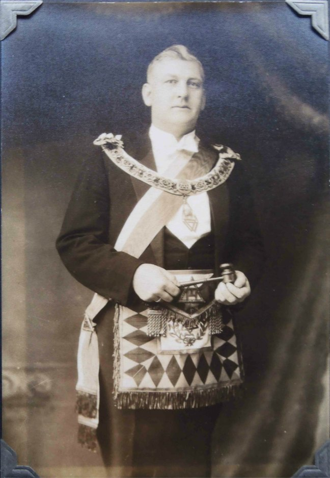 Samuel Drake, Jr. (1889-1941) Worshipful Master of Ashlar Lodge, No.3 in 1924