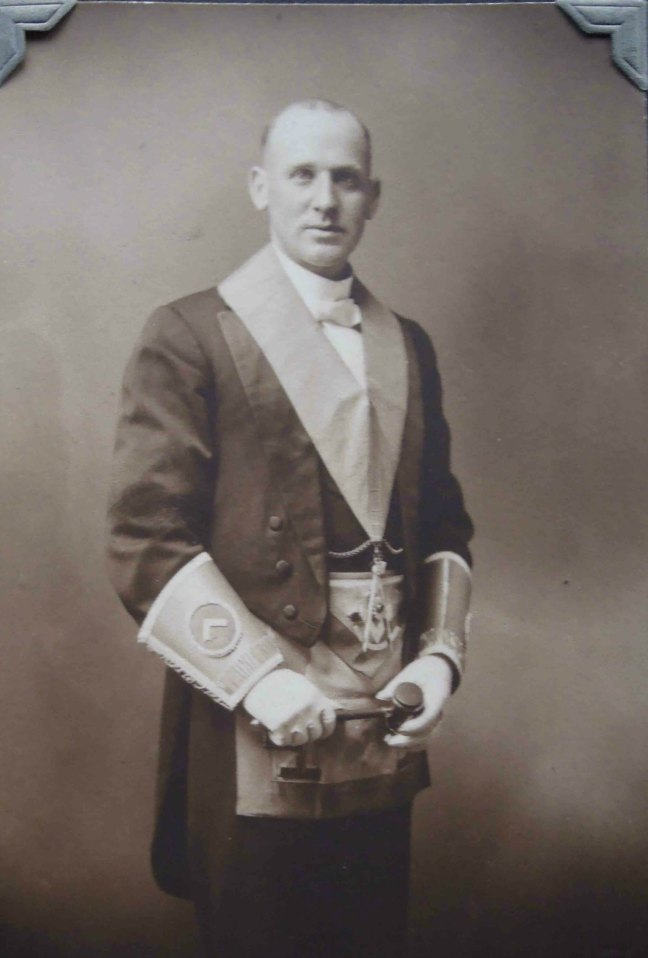 Walter Baxter, Worshipful Master of Ashlar Lodge in 1919