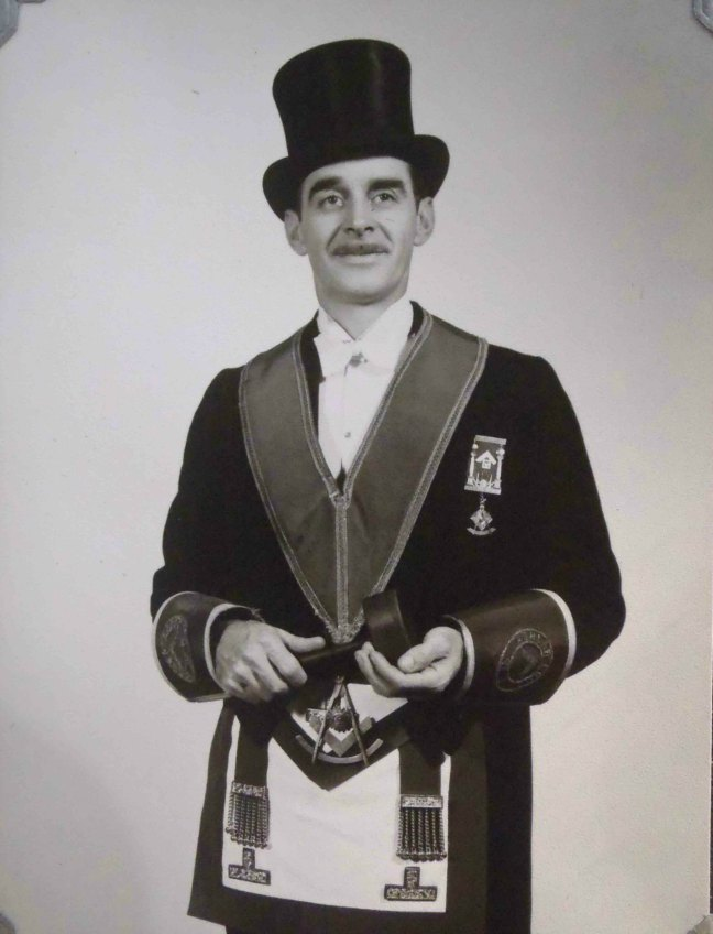 Addison Beck, Worshipful Master of Ashlar Lodge, No.3 in 1951