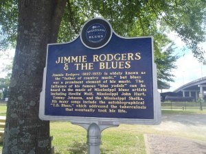 Jimmie Rodgers sign on Mississippi Blues Trail , Meridian, Mississippi