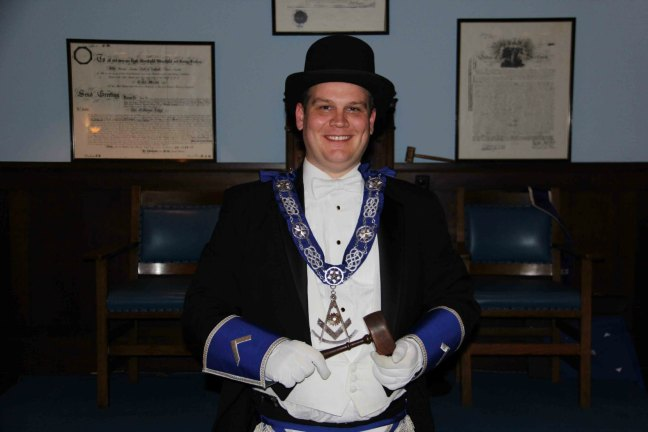 John Bradburne, Worshipful Master of Ashlar Lodge, No.3 in 2015