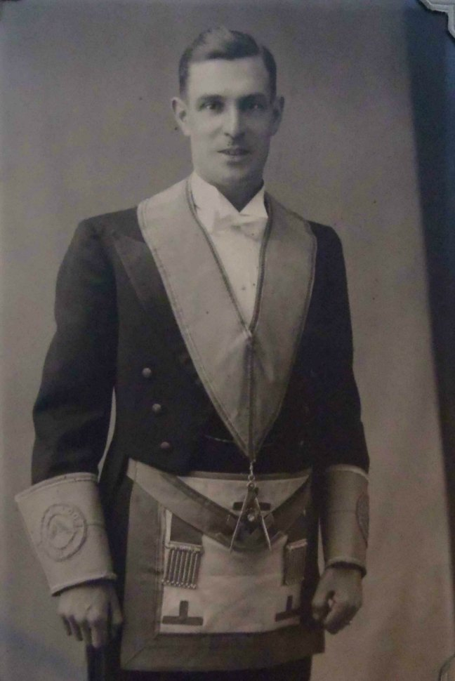 John Murdoch, Worshipful Master of Ashlar Lodge, No.3 in 1936
