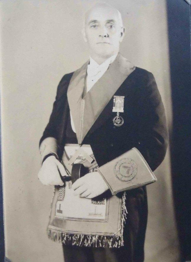 Samuel G. Carter, Worshipful Master of Ashlar Lodge, No.3 in 1930