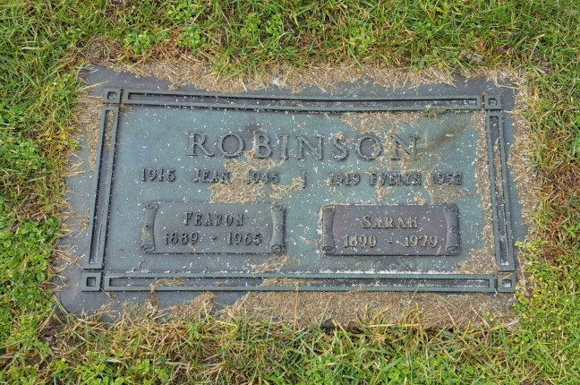 Fearon Robinson grave marker, Bowen Road Cemetery, Nanaimo, B.C.